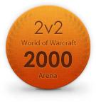 Arena Rating 2v2 - 2000