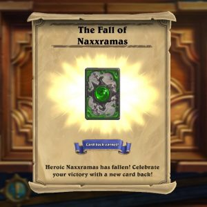 Curse of Naxxramas card back