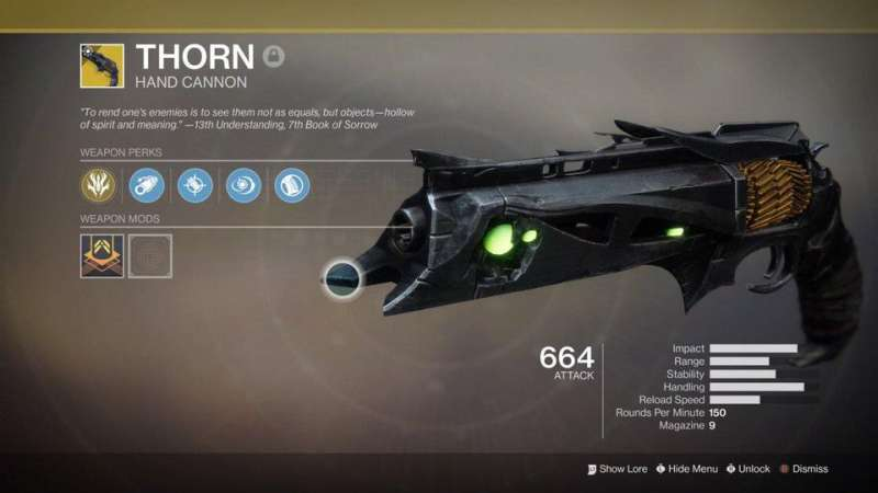 Thorn - Exotic Hand Cannon