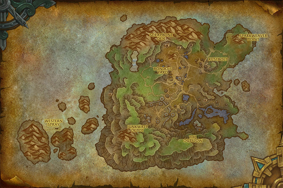 Mechagon Location Map image