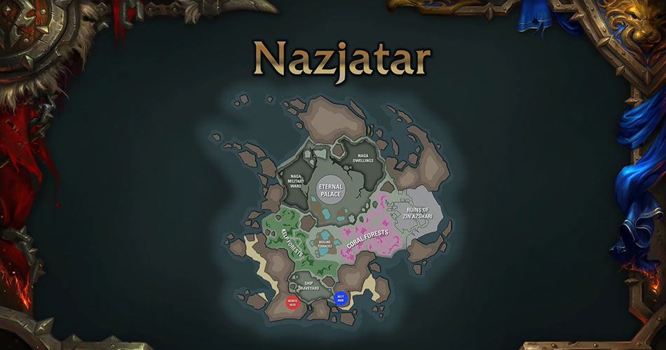 WoW Nazjatar Location map