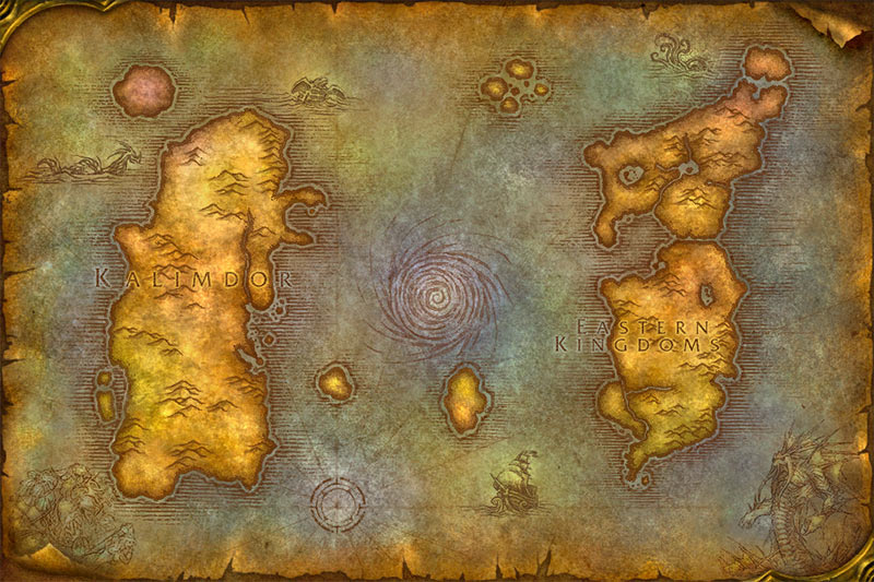 WoW Classic-Vanilla Map Image